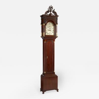 Philadelphia Carved Mahogany Tall Case Clock circa 1770
