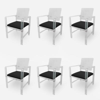 Amparo Calderon Tapia Set of 6 Modern Lucite Arm Chairs