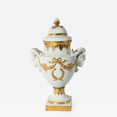 Antique German Porcelain and Gold Vase