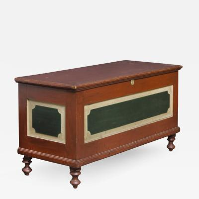 Tricolor Blanket Chest Pennsylvania c 1835