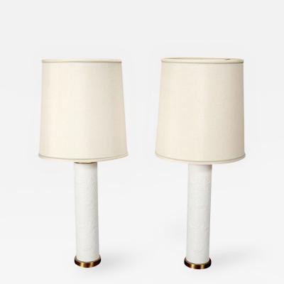 Bjorn Wiinblad Pair Danish Ceramic Table Lamps by Bjorn Winblad
