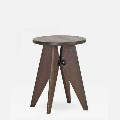 Jean Prouv Vitra Tabouret Solvay Stool in Smoked Oak by Jean Prouv