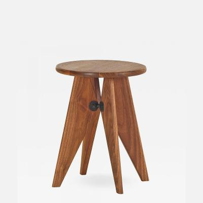 Jean Prouv Vitra Tabouret Solvay Stool in American Walnut by Jean Prouv