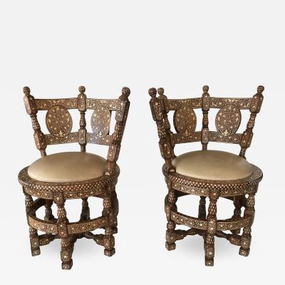 Pair of Colonial Lounge Chairs