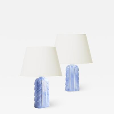 Gunnar Nylund Pair of table lamps with leafy forms by Gunnar Nylund
