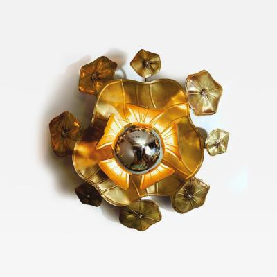 Valerie Wade Large single Lotus flower wall light
