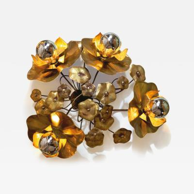 Valerie Wade Quadruple Lotus flower wall light