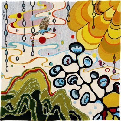 Angela Adams Rain Area Rug Tapestry