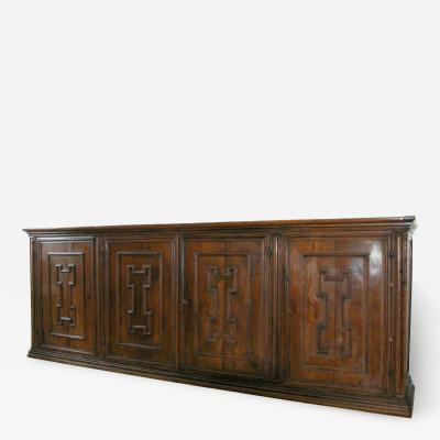 Tuscan Four Door Walnut credenza Circa 1640