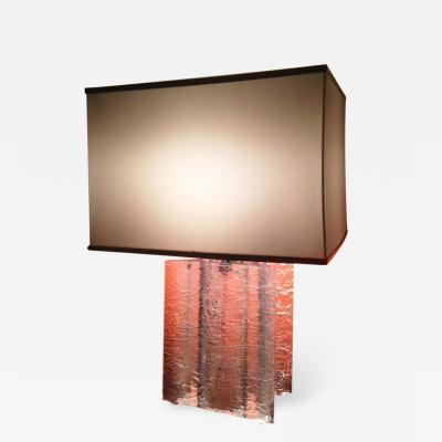 1970s Oversize French Lamp in Perspex Craquelle