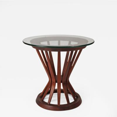 Edward Wormley Edward Wormley for Dunbar Sheaf of Wheat Walnut Side Table