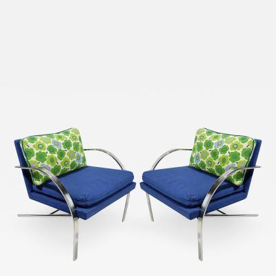Pair All Original Arco Club Chairs By Paul Tuttle 1918 2002 c 1960s