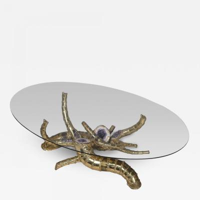 Richard Faure Cornucopia coffee table by Richard Faure France circa 1975