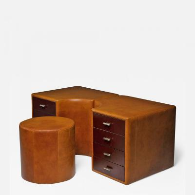 Guido Faleschini Set of Two Chest of Drawers and Stools by Guido Faleschini for I 4 Mariani