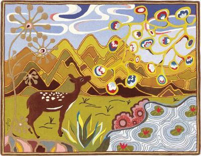 Angela Adams Eastons Pond Area Rug Tapestry