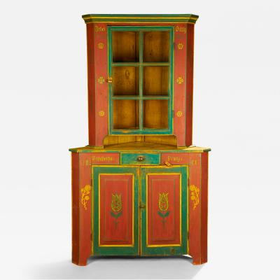 Orwig Family Corner Cupboard dated 1861