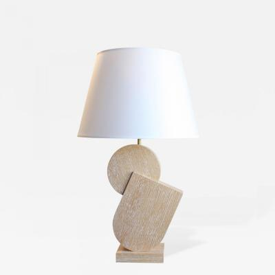 Kimille Taylor Natural Cerused Oak Table Lamps by Kimille Taylor Pierre