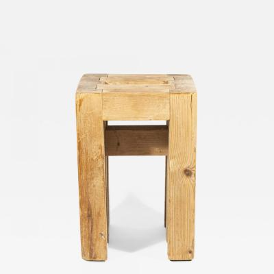Guy Rey Millet Jean Prouv Jean Prouv with Guy Rey Millet Stool Wood Refuge de la Vanoise