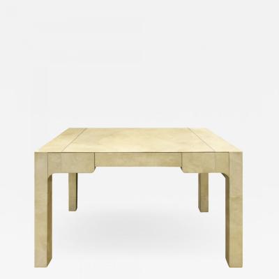 Karl Springer Karl Springer Chinese Parsons Style Desk In Lacquered Goatskin 1985