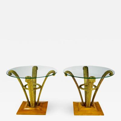 Pair Grosfeld House Plume End Tables c 1940s