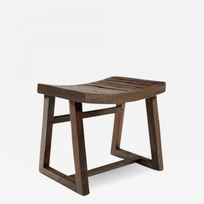 Pierre Jeanneret Low stool in solid rosewood with letters ca 1955 1956