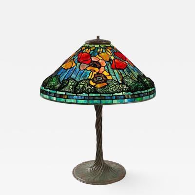 Tiffany Studios Poppy Tiffany Lamp