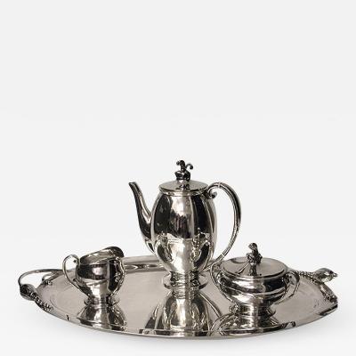 Evald Nielsen Evald Nielsen Danish Silver Coffee Service c 1930