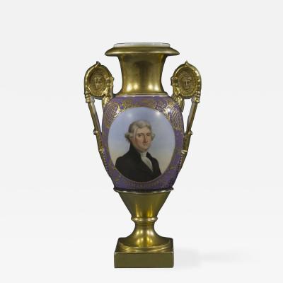 Old Paris Vase with a Portrait of Thomas Jefferson about 1828 30