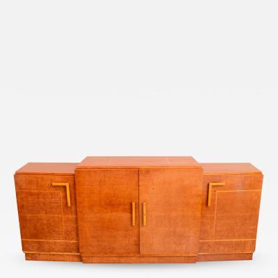 Ely Jacques Kahn Late Art Deco Birds Eye Maple and Maple Inlaid Credenza Eli Jacques Kahn