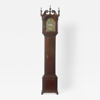 Walnut Tall Case Clock with Eight Day Movement