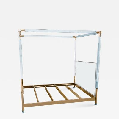 Charles Hollis Jones Charles Hollis Jones Stallone Bed in Lucite and Brass
