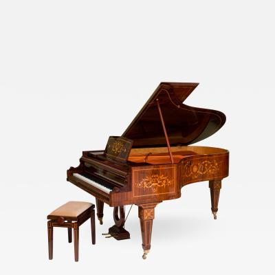 Rare and Historically Significant Marquetry Inlaid Grand Piano B sendorfer