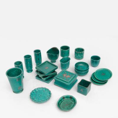 Collection of Gustavsberg Argenta Ceramics Wilhelm Kage Designed