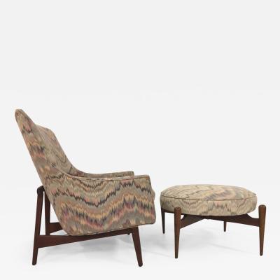 Jens Risom Jens Risom Lounge Chair and Matching Ottoman