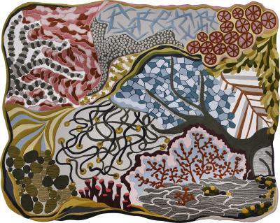 Angela Adams Ocean Floor Area Rug Tapestry