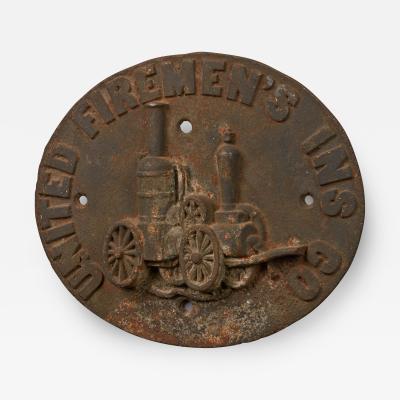 Firemark for the United Firemens Insurance Company circa 1868 1871