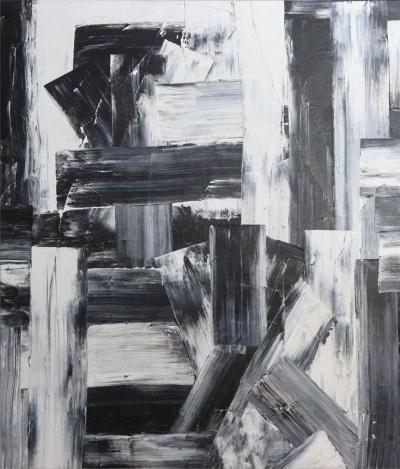 Renato Freitas Renato Freitas Original Oil on Canvas 2015 Black and White 3