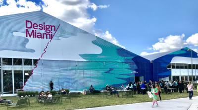 Design Miami/ Entrance. Across the street from Art Basel