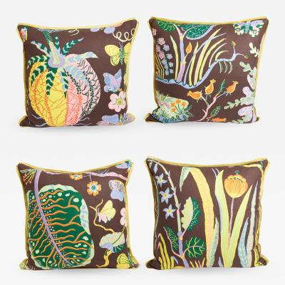 Josef Frank Set of Four Josef Frank Cushion in the Hawaii Pattern