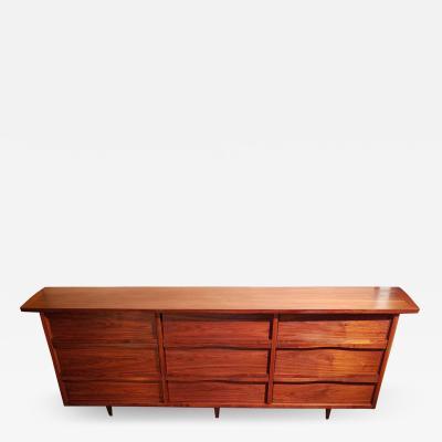 George Nakashima George Nakashima 9 Drawer Walnut Dresser Widdicomb 1963