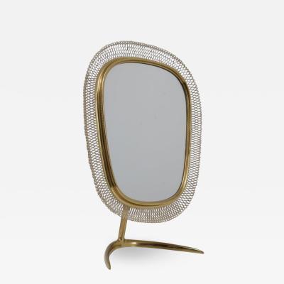 Vereinigte Werkst tten F r Kunst Im Handwerk Brass Vanity Mirror Germany 1950