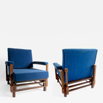 Gio Ponti Pair of Italian Armchairs