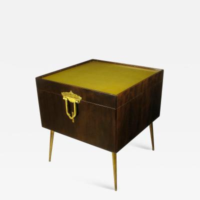 Bert England Orientation Group Walnut and Brass Bar Cabinet for John Widdicomb c 1960s