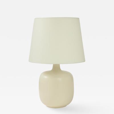 White Ceramic Mid Century Lamp with Custom Parchment shade c 1950