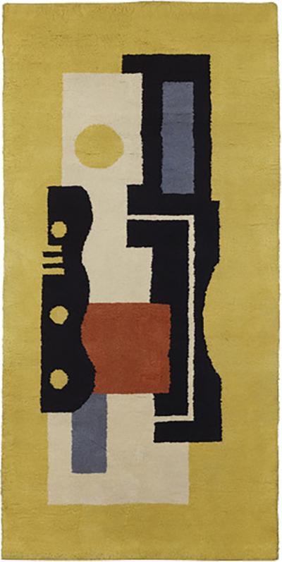 Fernand Leger Boccara artistic rug Fernand L ger Jaune 9