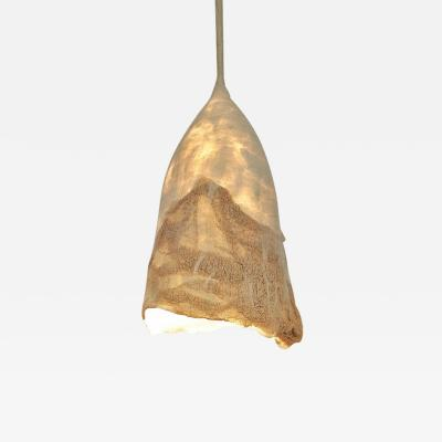 In s Schertel Untitled 2019 Silk and Felted Wool Hanging Lamp by In s Schertel Brasil