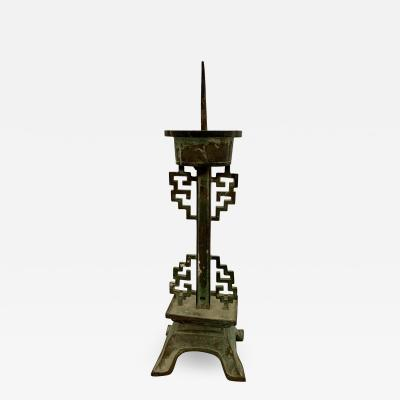 Chinese Bronze Pricket Candlestick