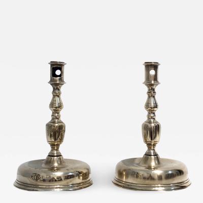 Pair of Brass Spanish Candlesticks