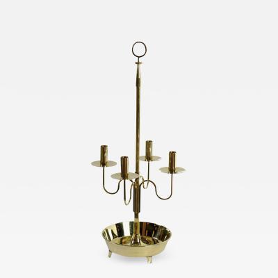 Tommi Parzinger Large 30 Brass Candelabra For Dorlyn USA c 1950s