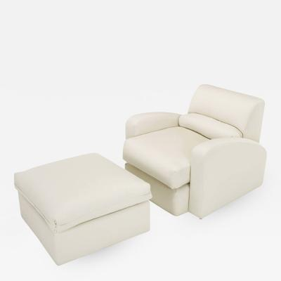 Jay Spectre Jay Spectre Steamer Lounge Chair with Ottoman